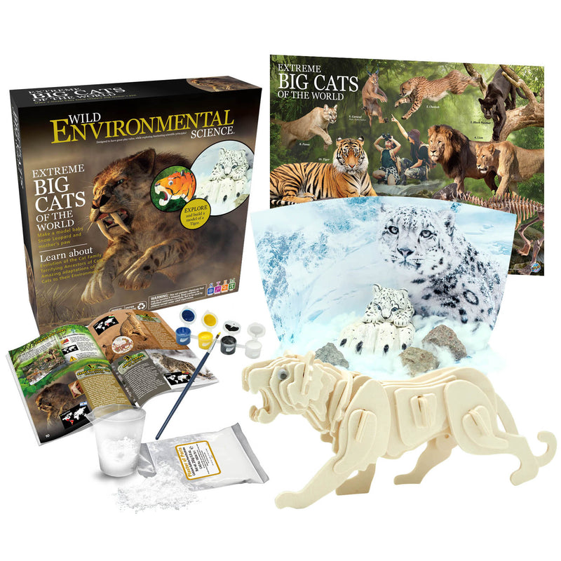 Extreme Science Kit Big Cats Of The World Wild Science
