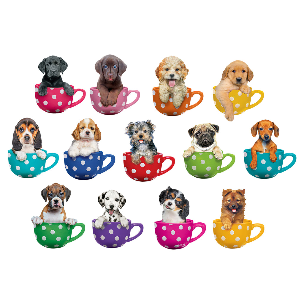 Pups In Cups Mini Shaped Puzzle Set 13 Puzzles