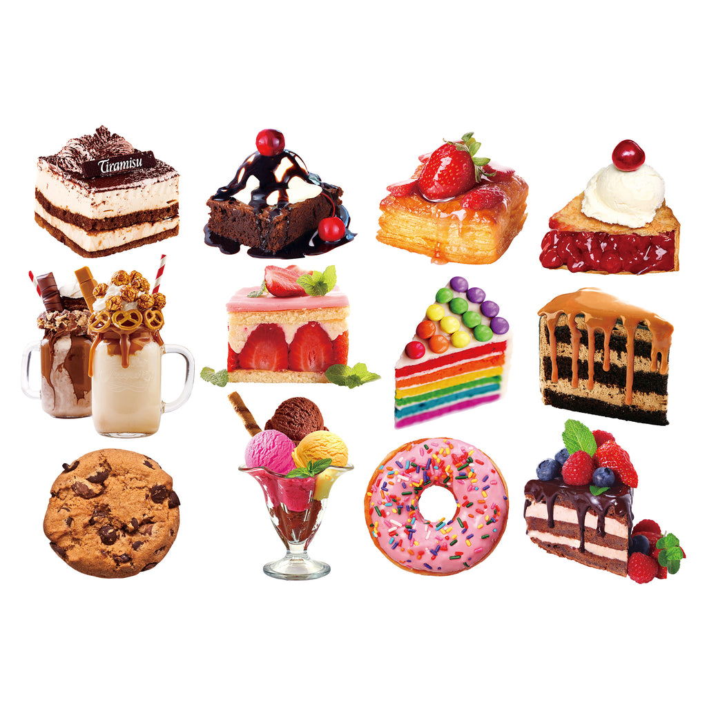 Desert Delights Mini Shaped Puzzle Set 12 Puzzles