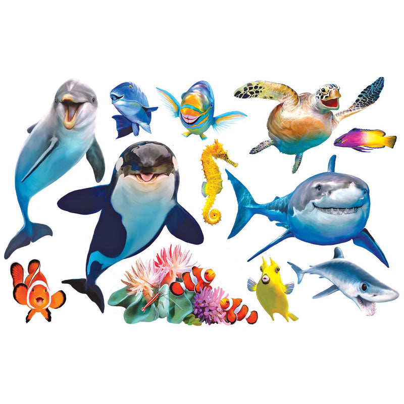 Ocean Selfies Mini Shaped Puzzle Set 12 Puzzles