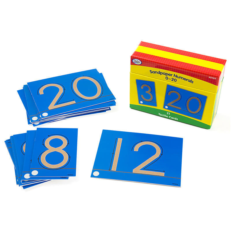 Tactile Sandpaper Number Cards 0-20