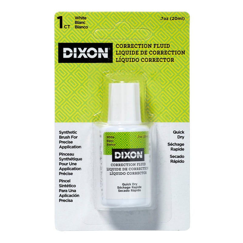 Dixon Correction Fluid 7 Oz Blister Card