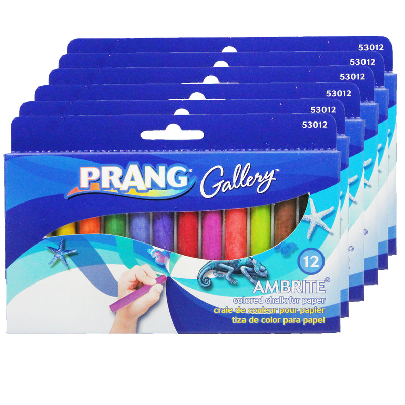 (6 Bx) Ambrite Paper Chalk 12 Color Per Bx