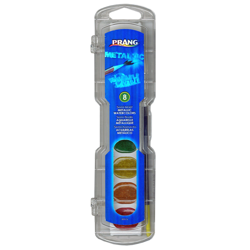 (6 Ea) Prang Watercolor Masterpk Metallic Colors 8 Per Pk