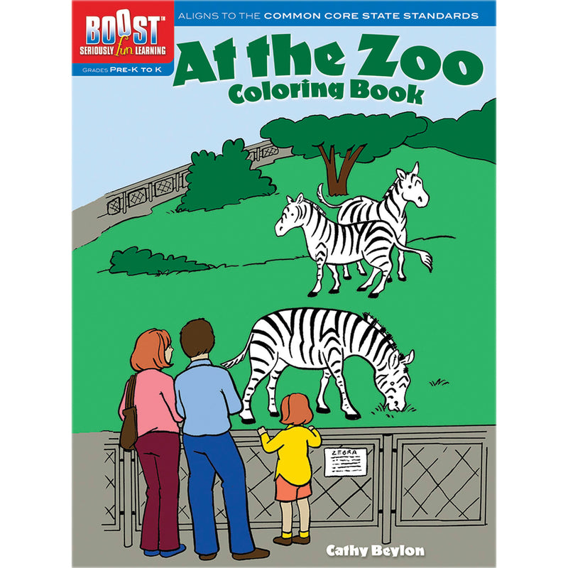 (6 Ea) Boost At The Zoo Coloring Book Gr Pk-k