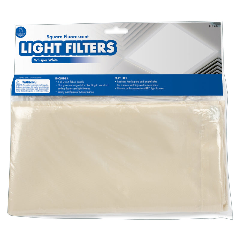 Classroom Light Filters 2x2 White Set Of 4