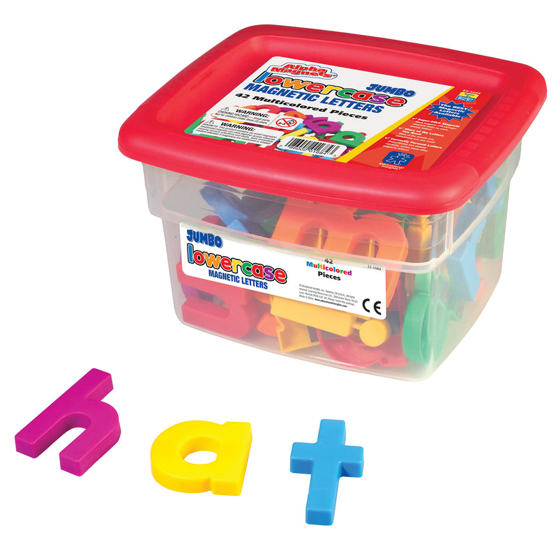 Alphamagnets Jumbo Lowercase 42 Pcs Multicolored