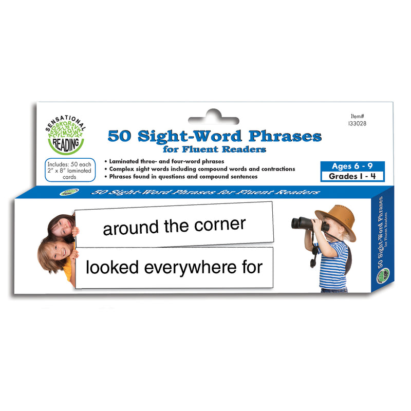 (3 Pk) 50 Sight Word Phrases For Fluent Readers