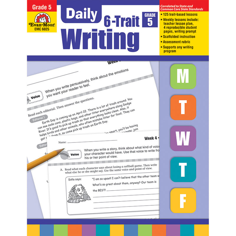 Daily 6 Trait Writing Gr 5