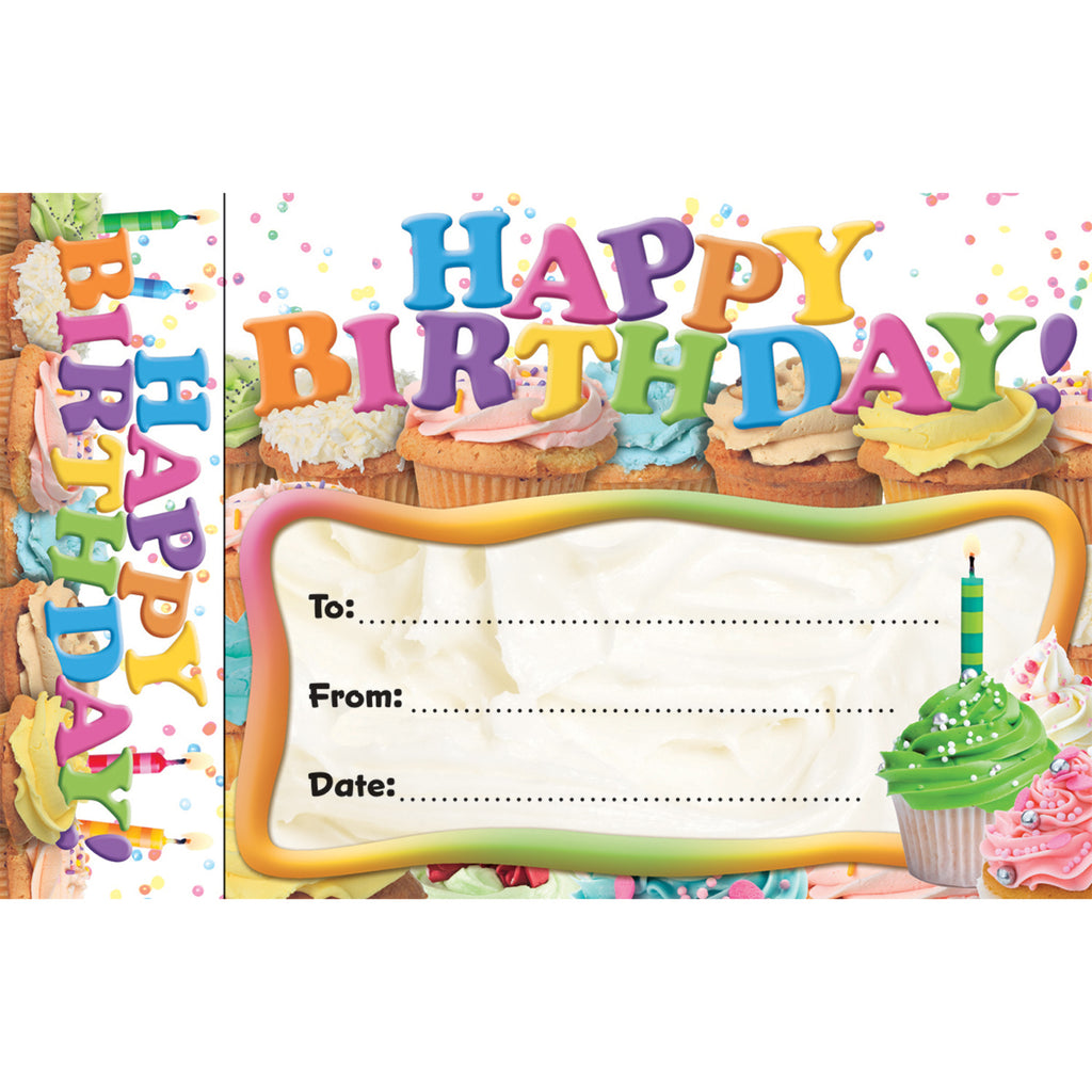 (3 Pk) Happy Birthday Cupcakes Bookmark Award
