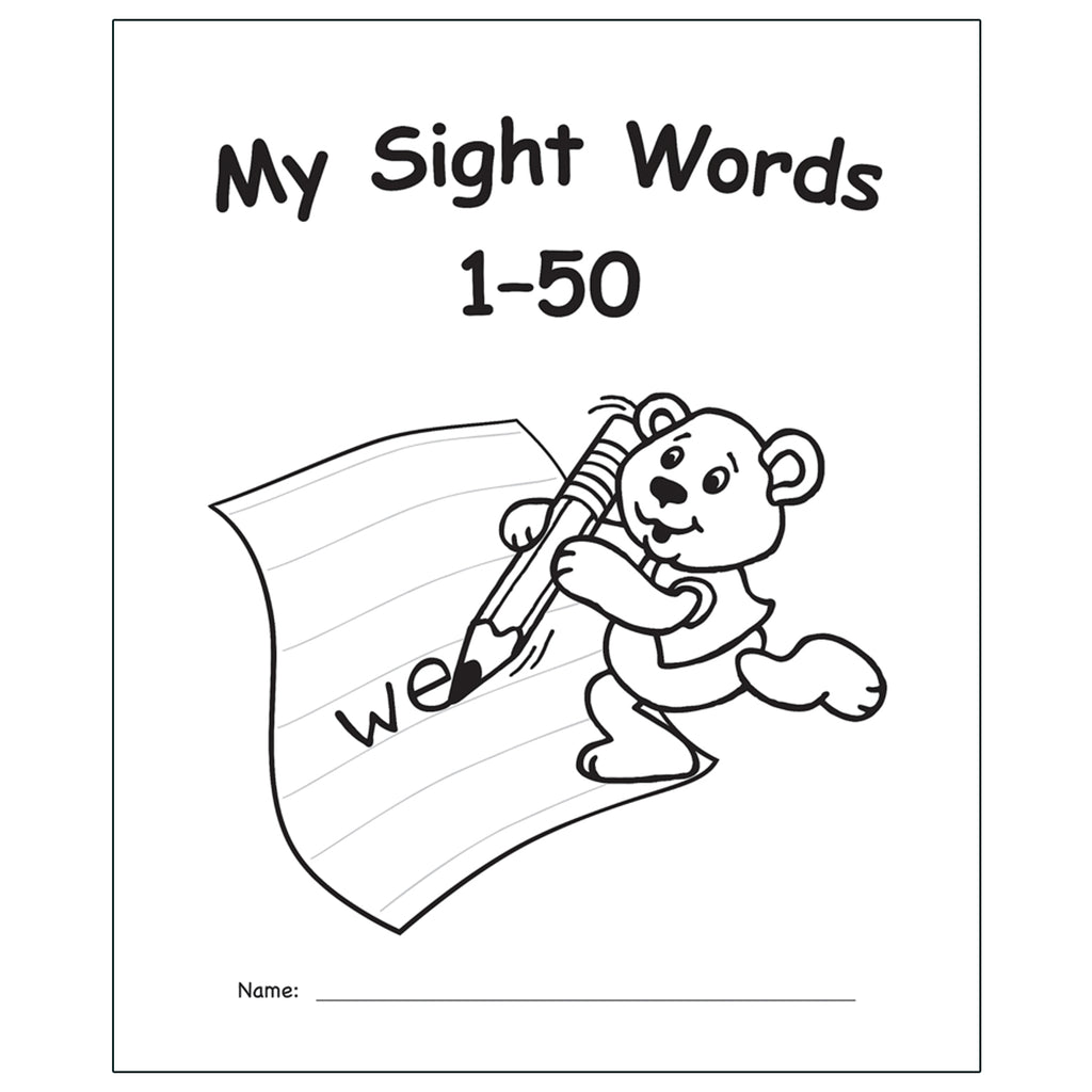 My Own Books Sight Words 1-50