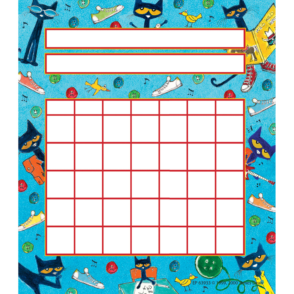 (6 Pk) Pete The Cat Incentive Charts
