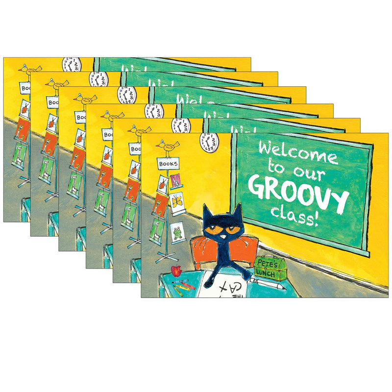 (6 Pk) Pete The Cat Welcome Postcards Groovy Class