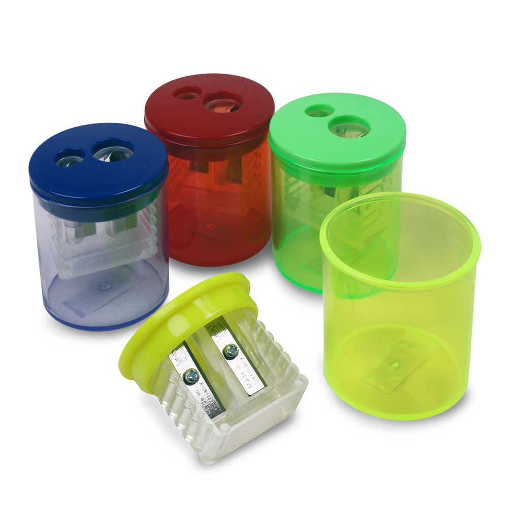 (12 Ea) Two Hole Pencil Sharpener