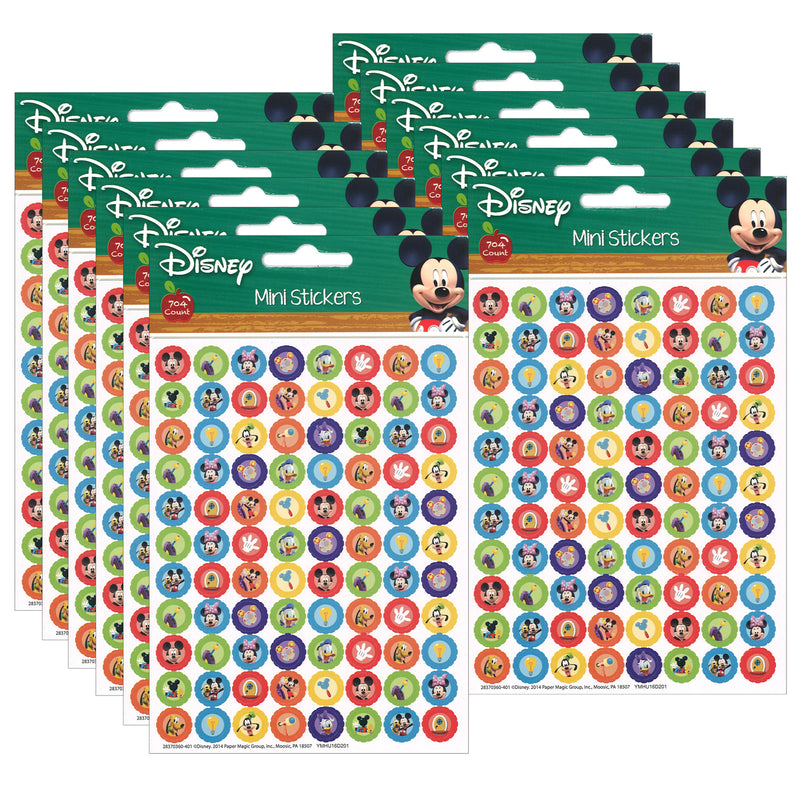(12 Pk) Mickey Mouse Clubhouse Gear Mini Stickers