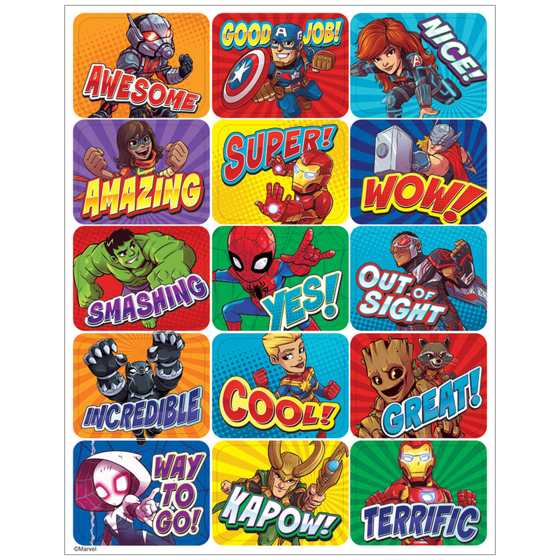 Marvel Super Hero Adventur Stickers Success
