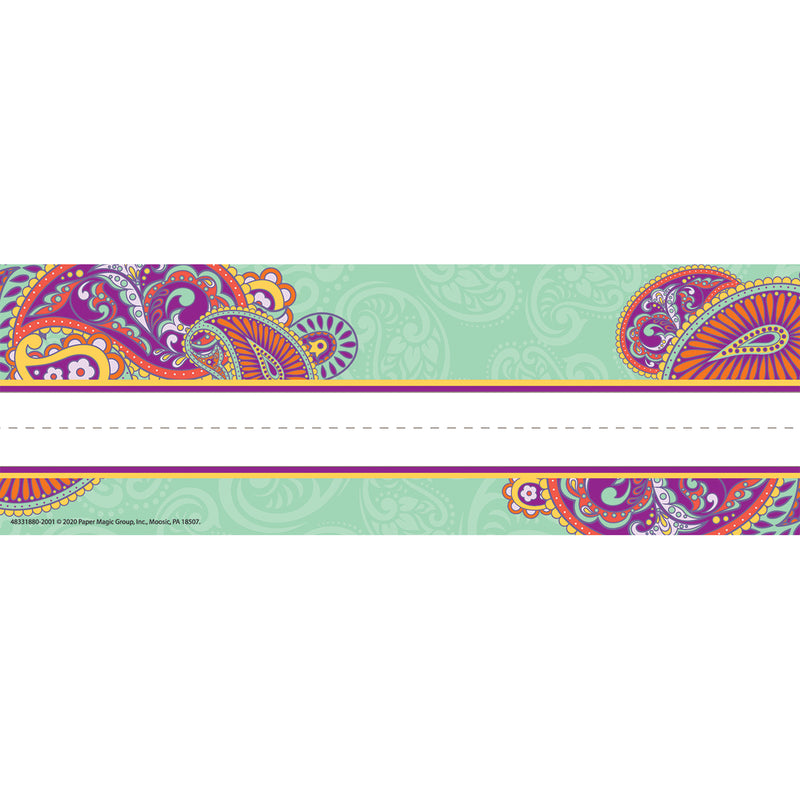 Positively Paisley Name Plates Self-adhesive
