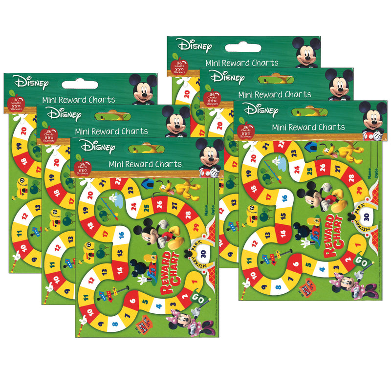 (6 Pk) Mickey Mouse Clubhouse Mickey Park Mini Chart Plus Stckrs