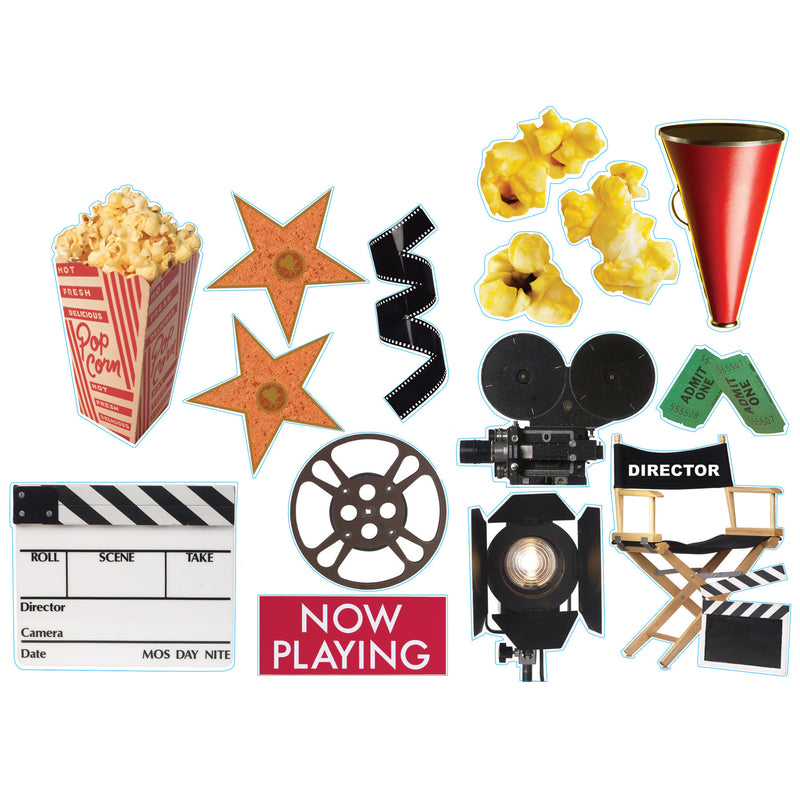 (6 Pk) Movie Theme 2-sided Deco Kit