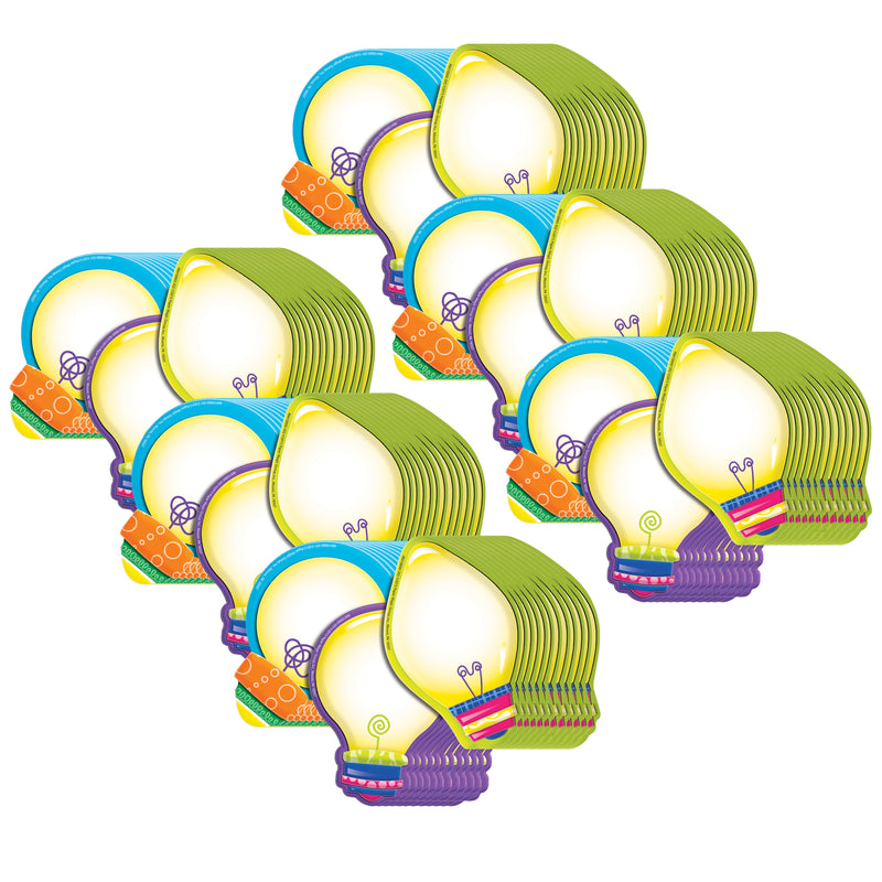 (6 Pk) Light Bulbs Assorted Paper Cut Outs Color My World