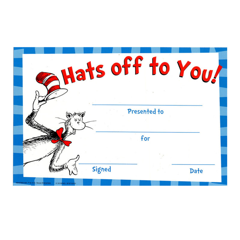 Cat In The Hat Hats Off To You Award