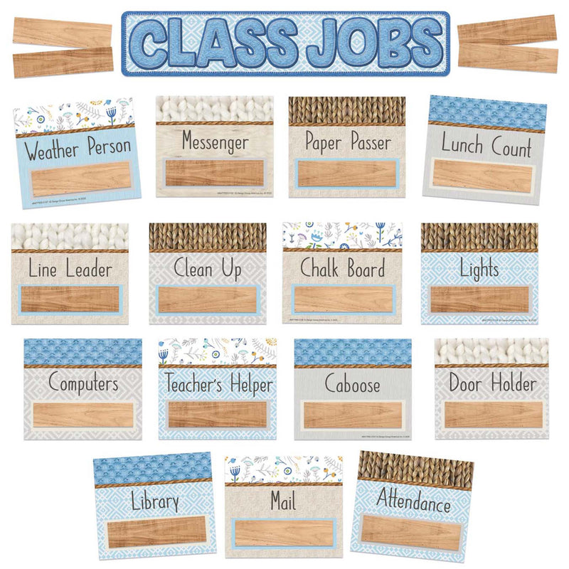 Class Jobs Mini Bulletin Board Set A Close-knit Class
