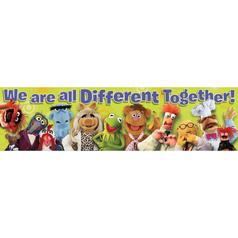 (6 Ea) Muppets All Different Classroom Banner