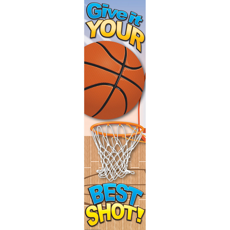 (6 Ea) Basketball Motivational Banner 4ft