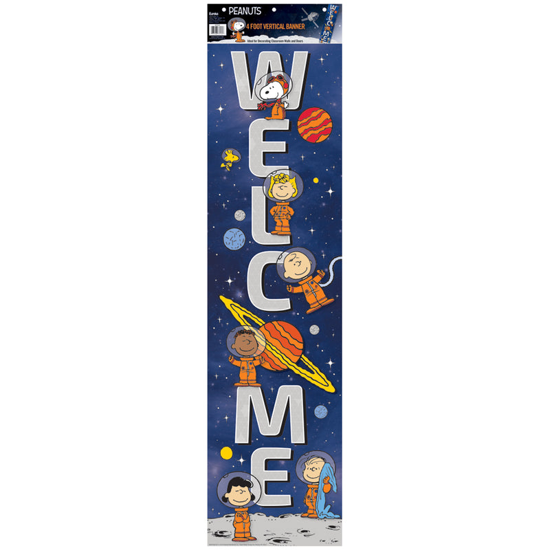 Peanuts Nasa Welcome Banner Vertical