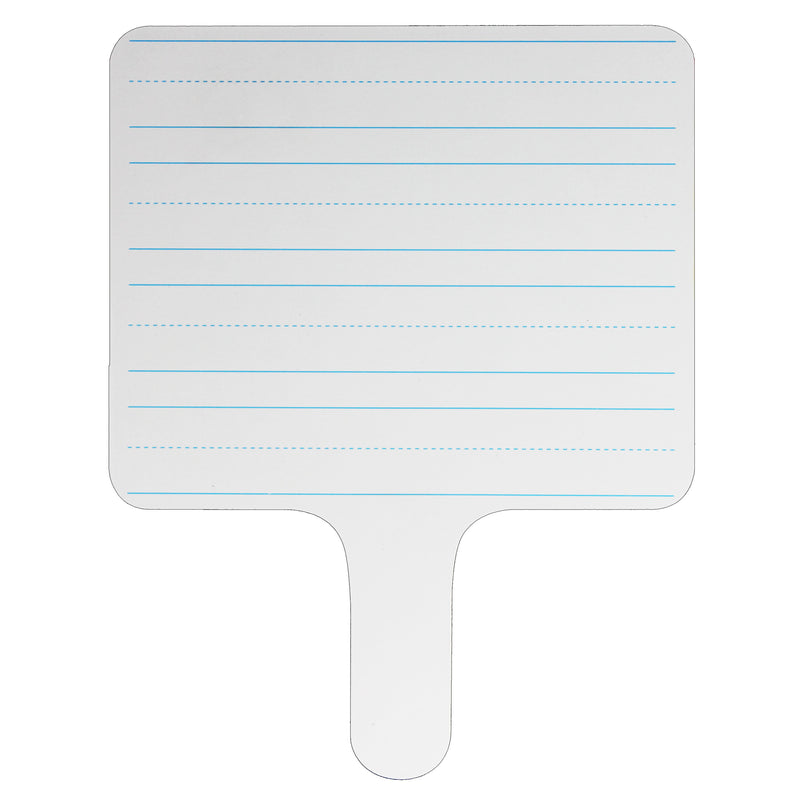 (6 Ea) Rectangle Lined Answer Paddle Dry Erase
