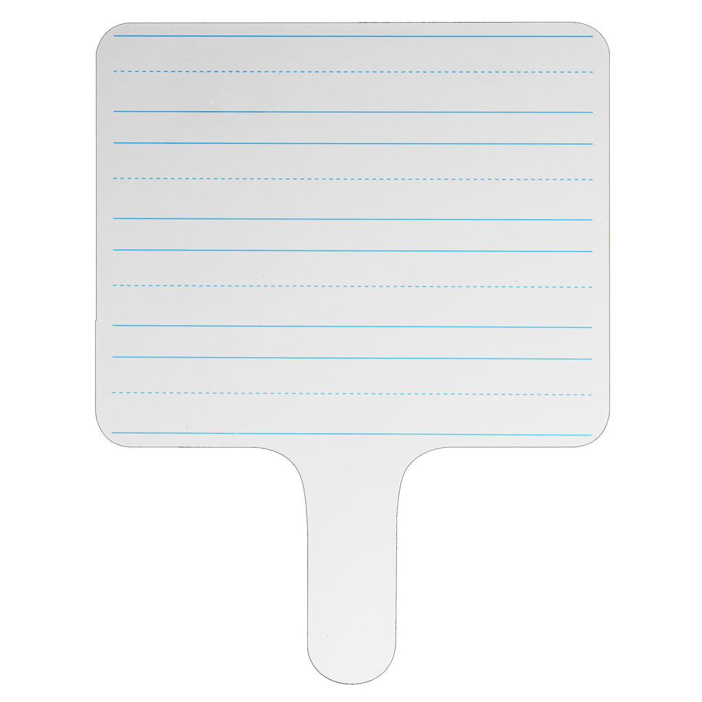 Rectangle Lined Answer Paddle Dry Erase