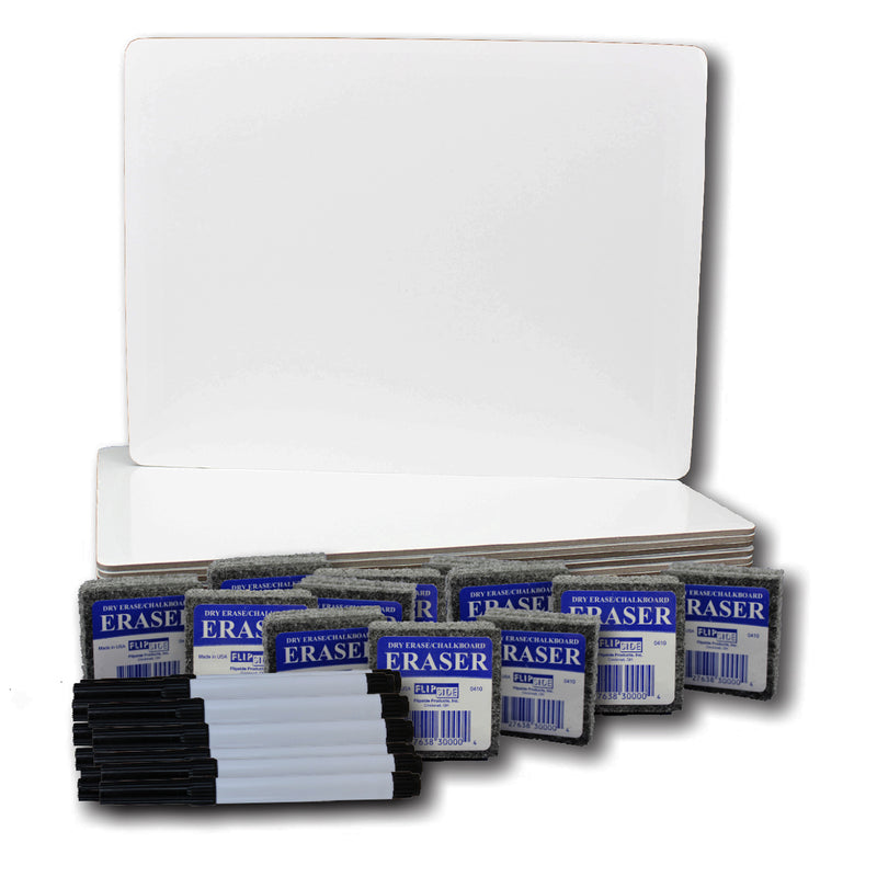Magnetic Dry Erase Board 12pk Class Pack 9x12