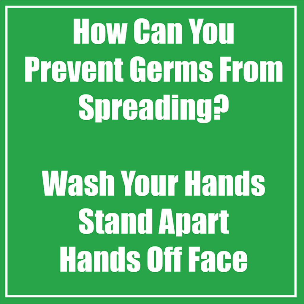Prevent Germ Spreadng Green Low Tac Wall Stickers 5pk