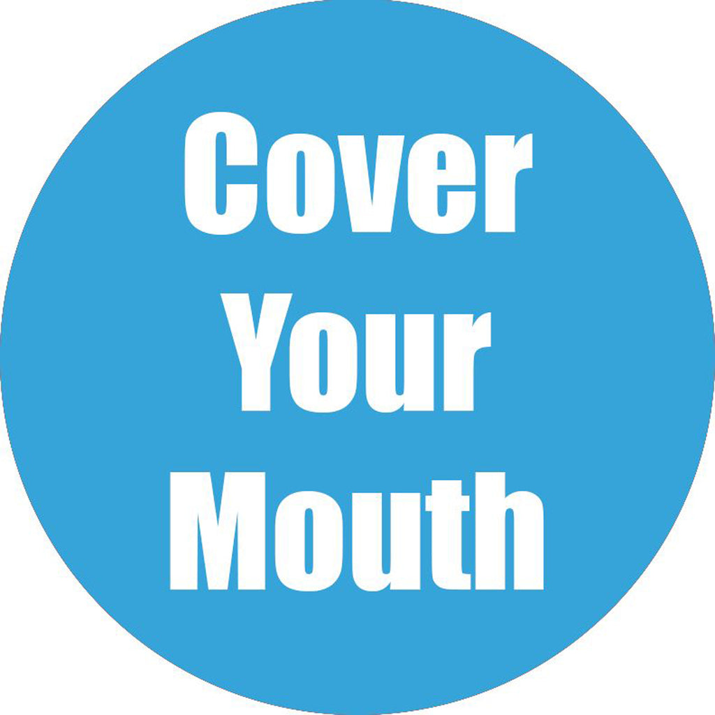 Cover Ur Mouth Cyan Anti-slip Floor Sticker 5pk