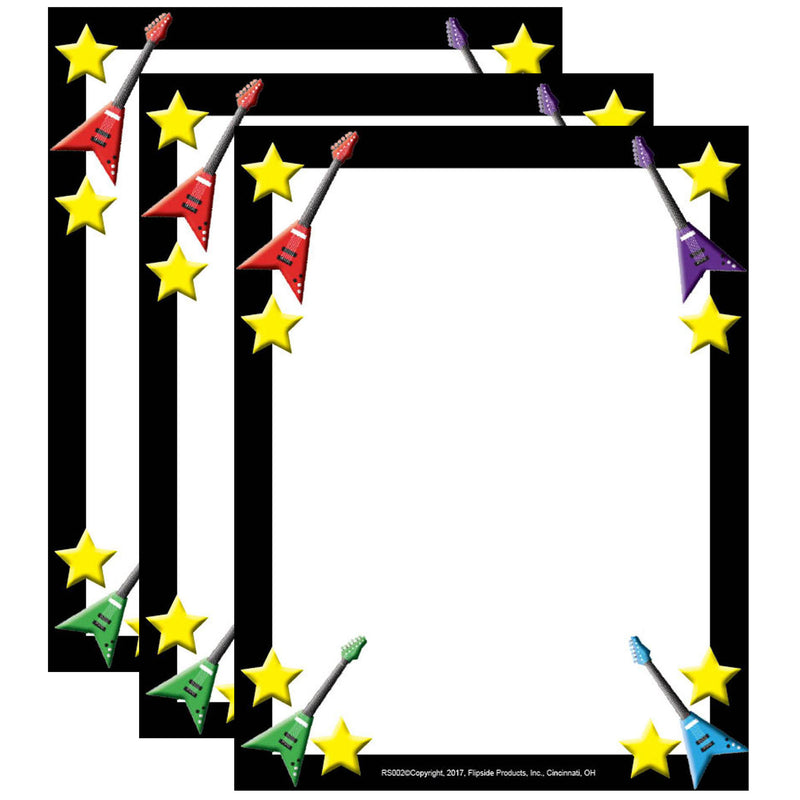(3 Pk) Rock Star Border Paper