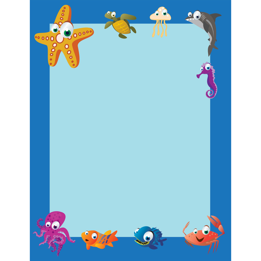 (3 Pk) Under The Sea Border Paper 50 Per Pack