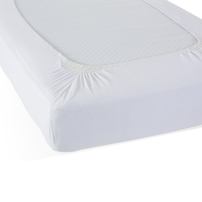 (2 Ea) Safefit Wht Compact Elastic Fitted Sheet