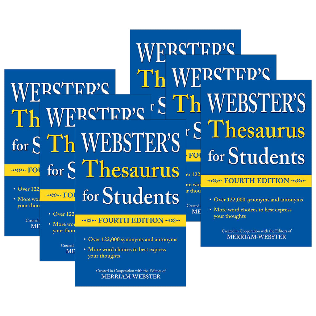(6 Ea) Websters Thesaurus For Students Fourth Edition