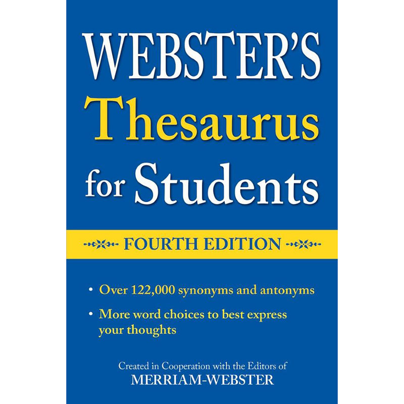 Websters Thesaurus For Students Fourth Edition
