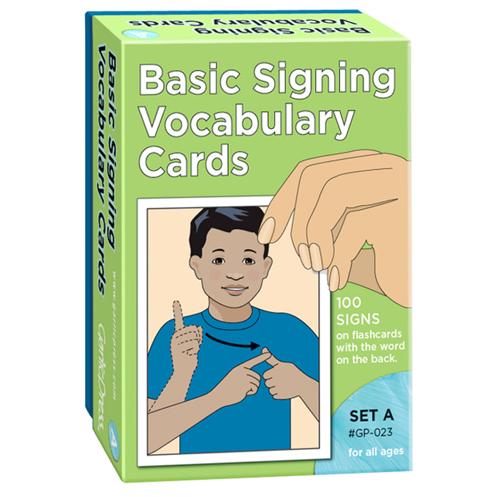 Basic Signing Vocab Cards Set A 100-pk 4 X 6