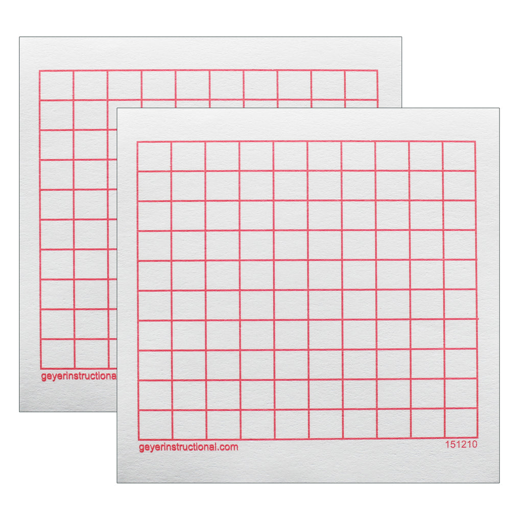 (2 Pk) Graphng Post It Notes 10x10 Grid