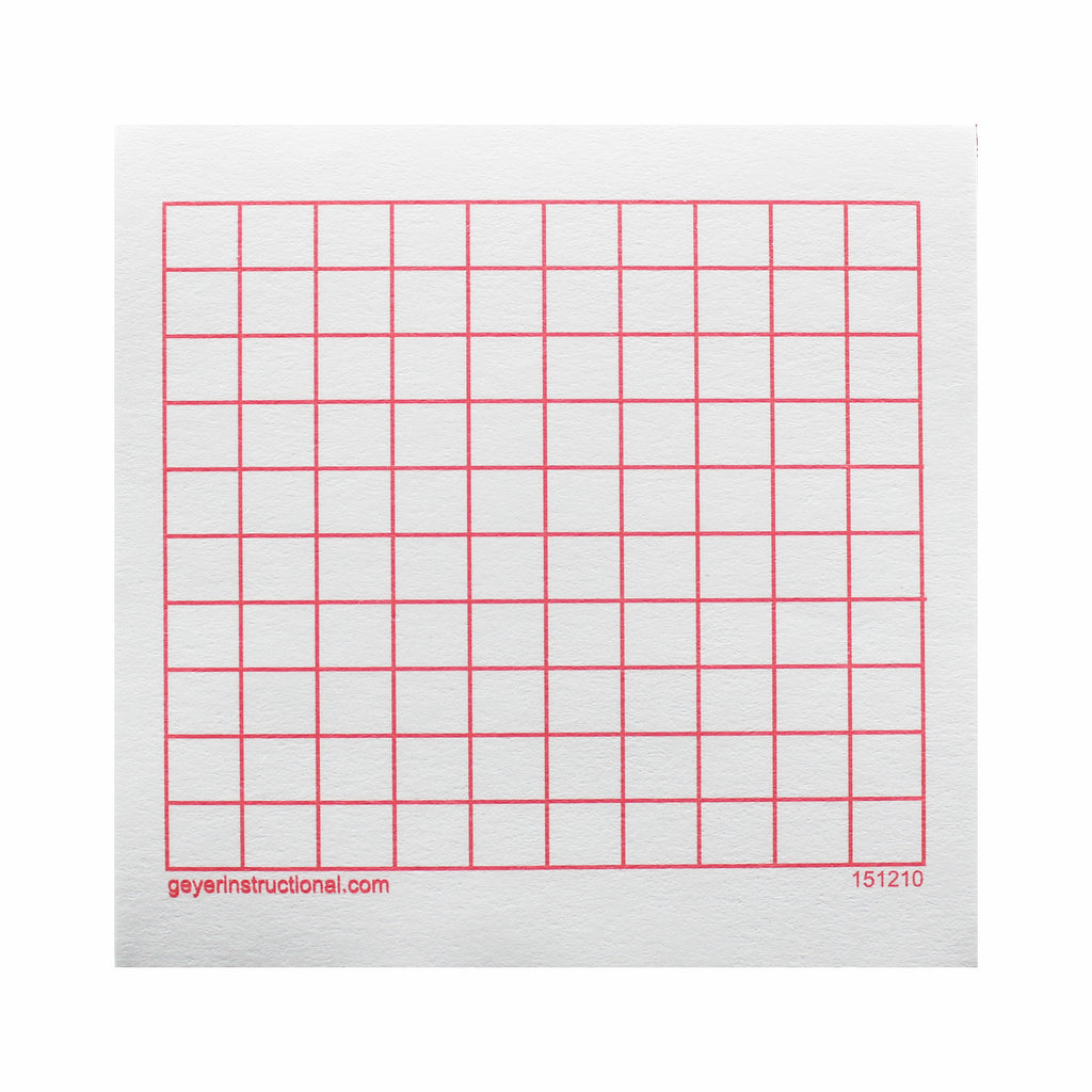 Graphng Post It Notes 10x10 Grid