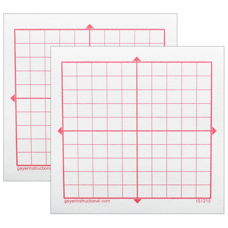 (2 Pk) Graphng Post It Notes Xy Axis 10x10 Squares