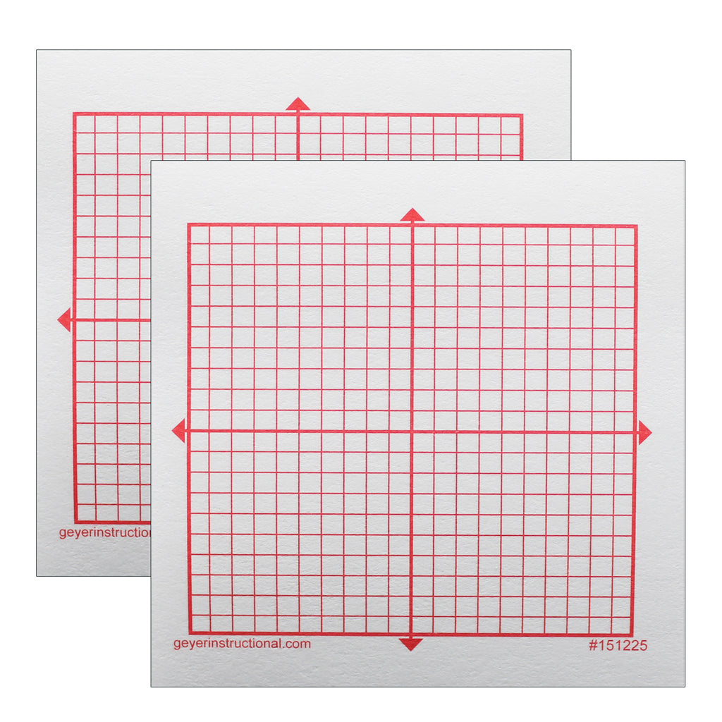 (2 Pk) Graphng Post It Notes Xy Axis 20x20 Square Grid