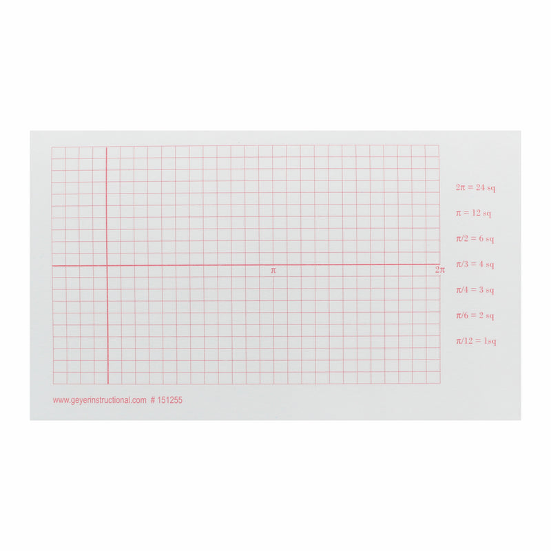 3x5 Graphng Post It Notes Trig Grid Radian