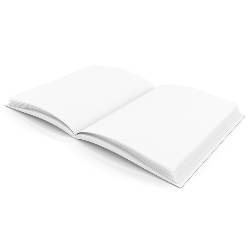Plain White Blank Book 8w X 6h Hardcover 28 Pages 14 Sheets