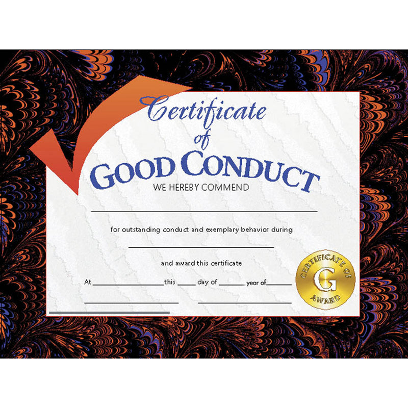 Certificates Good Conduct 30-pk 8.5 X 11