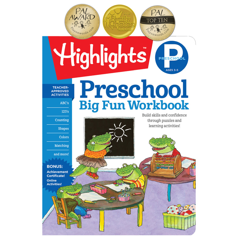 Big Fun Workbooks Preschool Highlights