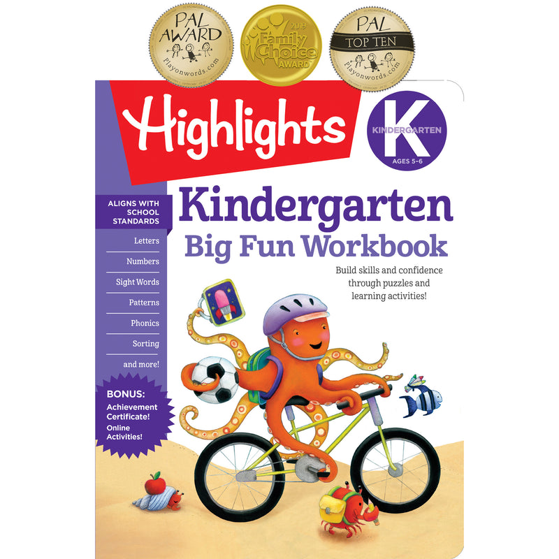 Big Fun Workbooks Kindergarten Highlights