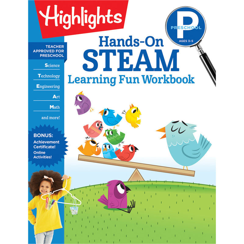 Hands-on Steam Learning Fun Prek Workbook Highlights